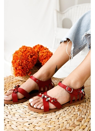 Limoya Sandalet Kırmızı
